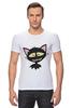 """Футболка Стрэйч """"«капризный кот»"""" - кот, животные, рисунок"""