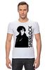 "Футболка Стрэйч (Мужская) ""Шерлок (Sherlock)"" - bbc, sherlock, шерлок"