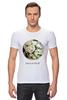 """Футболка Стрэйч (Мужская) """"Сумочка для упаковки подарка"""" - любовь, цветы, весна, свадьба, невеста, подарок, молодожены, букет, spring"""