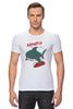 "Футболка Стрэйч (Мужская) ""Акула (Baywatch)"" - акула, спасатели малибу, baywatch"