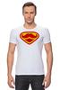 "Футболка Стрэйч (Мужская) ""Супермен-усач-бородач"" - супермен, superman, борода, усы, бородач"