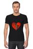 "Футболка Стрэйч ""Любовь "" - сердце, любовь, heart, patched heart"