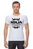 """Футболка Стрэйч """"Ninja Programmer"""" - ниндзя, программист, ninja programmer"""