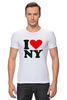 "Футболка Стрэйч (Мужская) ""i love NY"" - new york"