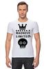 "Футболка Стрэйч (Мужская) ""Madness"" - skull, череп, корона, фэшн, crown"