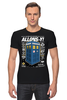 "Футболка Стрэйч ""Allons-y!"" - фантастика, сериал, doctor who, bbc, доктор кто, тардис, 10th doctor, allons-y, десятый доктор"