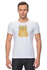 """Футболка Стрэйч """"Умная кошка"""" - кошка, модно, котик, casual"""
