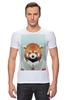 """Футболка Стрэйч (Мужская) """"Деловая панда"""" - стиль, панда, red panda, деловая, выдра"""