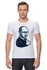 "Футболка Стрэйч (Мужская) ""Путин - like"" - россия, путин, like, президент, putin"