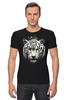 "Футболка Стрэйч (Мужская) ""Белый тигр"" - хищник, tiger, тигр, белый тигр, predator, white tiger"
