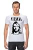 "Футболка Стрэйч (Мужская) ""Nirvana"" - гранж, nirvana, kurt cobain, курт кобейн, нирвана"