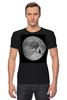 """Футболка Стрэйч (Мужская) """"Лунная ночь"""" - кот, cat, moon, лунная ночь, полнолуние"""
