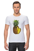 "Футболка Стрэйч (Мужская) ""ананас"" - ананас, фрукт, pineapple"