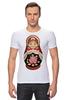 """Футболка Стрэйч (Мужская) """"Матрешка"""" - матрешка, матрёшка, russian doll, символ россии"""