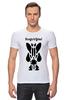 """Футболка Стрэйч """"Watchmen - Rorschach"""" - comics, черно-белая, комиксы, кино, cinema, черное и белое, rorschach, хранители, супергерои, socium"""