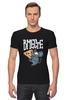"""Футболка Стрэйч (Мужская) """"Мышь и пицца. Парные футболки."""" - парные, ко дню влюбленных, мышь и пицца, всегда вместе, надписи для двоих"""