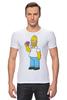 """Футболка Стрэйч (Мужская) """"Homer Simpsons"""" - прикольные"""