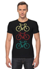 """Футболка Стрэйч """"Велосипеды"""" - спорт, велосипед, велоспорт"""