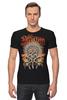 """Футболка Стрэйч """"Skull Art"""" - skull, дизайн, индеец, bones, череп и кости"""