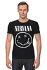 "Футболка Стрэйч (Мужская) ""Nirvana (Нирвана)"" - nirvana, нирвана"