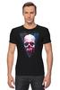 """Футболка Стрэйч (Мужская) """"Вселенная"""" - skull, череп, космос, абстракция, вселенная"""