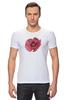 """Футболка Стрэйч (Мужская) """"Стилизованный  винтажный арт-цветок"""" - арт, авторские майки, цветы, узор, стиль, flower, рисунок, винтаж, мак, poppy"""