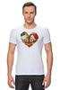"Футболка Стрэйч (Мужская) ""Skull Art"" - skull, череп, сердце, heart, цветы"
