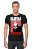 """Футболка Стрэйч (Мужская) """"KMFDM Revolution Sascha Konietzko"""" - музыка, industrial, kmfdm, sascha konietzko, brute"""