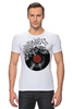 """Футболка Стрэйч """"Виниловая пластинка"""" - арт, винил, ноты, vinyl, грампластинка"""