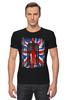 "Футболка Стрэйч (Мужская) ""10th флаг UK (Доктор Кто)"" - doctor who, bbc, флаг, uk, доктор кто"