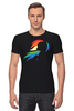 "Футболка Стрэйч (Мужская) ""Rainbow Dash Black"" - pony, rainbow dash, mlp, my little pony, пони, brony, мой маленький пони, брони"
