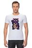 """Футболка Стрэйч """"Манэки-Нэко (Кот Счастья)"""" - cat, кот счастья, манэки-нэко"""