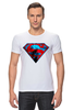 "Футболка Стрэйч (Мужская) ""superman"" - superman, супергерои"