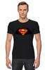 "Футболка Стрэйч (Мужская) ""Superman x Batman"" - супермен, batman, superman, бэтман"