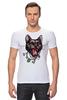 "Футболка Стрэйч (Мужская) ""Пантера"" - кот, кошка, пантера, black cat, panther, tm kiseleva"