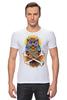 """Футболка Стрэйч (Мужская) """"Mysterious Owl"""" - кости, сова, owl, мистическая сова"""