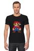 """Футболка Стрэйч (Мужская) """"Таблица Супер Марио"""" - игры, nintendo, химия, 8 бит, super mario, супер марио, таблица менделеева"""
