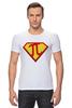 """Футболка Стрэйч (Мужская) """"Супер Пи (Super Pi)"""" - математика, 14 марта, число пи, день числа пи"""