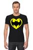 """Футболка Стрэйч (Мужская) """"Я люблю Бэтмена"""" - комиксы, batman, супергерои, бэтмен, человек-летучая мышь"""