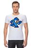 "Футболка Стрэйч (Мужская) ""Mega Man (8-bit)"" - 8-бит, 8-bit, mega man"