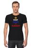 "Футболка Стрэйч (Мужская) ""Keep Calm art"" - патриот, россия, russian, keep calm, триколор"