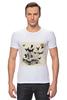 "Футболка Стрэйч ""Череп"" - skull, череп, бабочки, цветы, черепа, солнце, кости, death, butterflies"