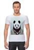 """Футболка Стрэйч (Мужская) """"Деловая панда"""" - медведь, мишка, панда, panda, крутая"""