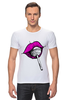 "Футболка Стрэйч (Мужская) ""pink lips"" - арт, губы, pink, розовый, чупа-чупс, lips, леденец, lolipop"