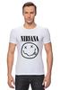 """Футболка Стрэйч """"Nirvana (Нирвана)"""" - nirvana, нирвана"""