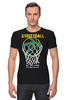 "Футболка Стрэйч (Мужская) ""Streetball"" - баскетбол, корзина, streetball, мячь"