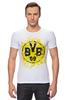 """Футболка Стрэйч """"боруссия дортмунд"""" - логотип, германия, боруссия, дортмунд"""