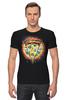 """Футболка Стрэйч (Мужская) """"Пицца"""" - еда, радуга, rainbow, пицца, pizza"""