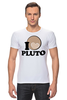 "Футболка Стрэйч ""Плутон (Pluto)"" - pluto, space, космос, плутон"