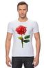 """Футболка Стрэйч """"С 8 марта!"""" - цветы, rose, роза, акварель, tseart"""